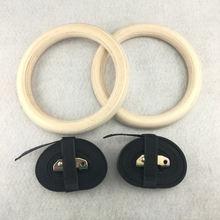 1 пара деревянные гимнастические кольца для фитнеса 28/32 мм