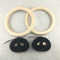 28mm/32mm 1 pair Professional Exercise Fitness Wooden Gymnastic Rings Home & Gym Exercise Crossfit Pull Ups Muscle Ups A