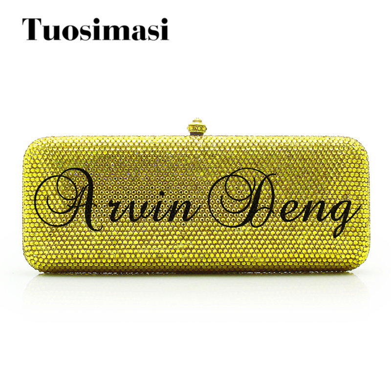 Custom made crystal crossbody chain bag women handbags fashion creative evening clutch bag for wedding party day clutche(1015CM) women custom name crystal big diamond clutch crossbody chain bag women handbags evening clutch bag 1001bg