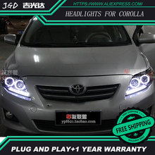 Free shipping Head lamp for Toyota corolla headlights 2007 2011 LED bar headlight DRL H7 Xenon_220x220 compare prices on headlight corolla online shopping buy low price  at creativeand.co