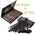 Quente Da Paleta Da Sombra Da Sombra de Olho Quente com 24 pcs Pincéis de Maquiagem Set Hot