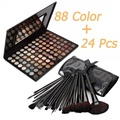 Warm Eye Shadow Warm Eyeshadow Palette with 24 pcs Makeup Brushes Set Hot
