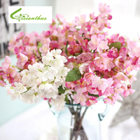 6 unids/lote 3 Colores de Seda de flores de Cerezo Artificial Pequeño Ramo DIY Wedding Party la Decoración Del Hogar Mini Rose Flores de Amapola