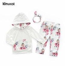Kimocat/Одежда для маленьких девочек костюм из 3 предметов повязка
