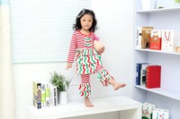 christmas clothes girls xmas Outfit girl boutique ruffle pants long sleeve baby girl christmas muticolor chevron outfits