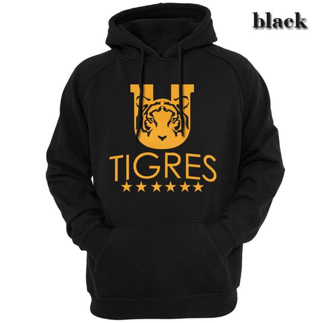 Tigres de Monterrey UANL Mexico Tigres UANL club Hoodies Sweatshirts Men Casual Apparel Hooded Hoody Spring autumn season 160