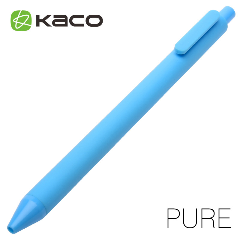 Kaco candy color pen black unisex 0.5 pen press type 10pcs/lot 10pcs black