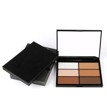 6 colores capacidad de reparación 3D alto brillo sombra cara translúcido polvo profesional maquillaje PowderRSQ-L18