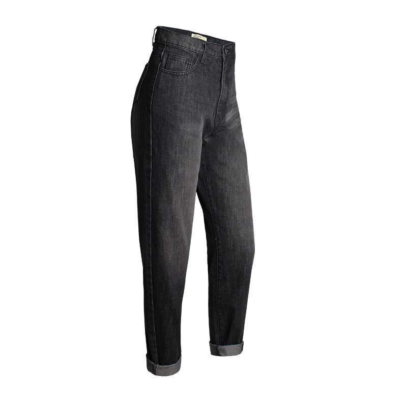 f29edce6954 Fashion Boyfriend Jeans Women Cotton Denim Jean for Ladies Black High Waist  Pants Straight Trousers pantalon femme 25 30-in Jeans from Women s Clothing  on ...