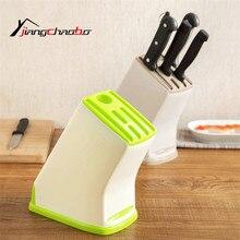 Creativo Plástico Accesorios de Cocina Portaherramientas Rack de Almacenamiento Titular Cuchillo de Cocina Multifuncional Cuchillo Cuchillo de Pie de Rack