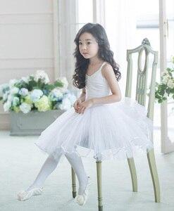 Image 4 - Robe de danse de Ballet pour filles, jupe de danse blanche, pour enfants, gilet, justaucorps, exercices quotidiens, haute qualité, Ballet en coton, nouveauté 2020