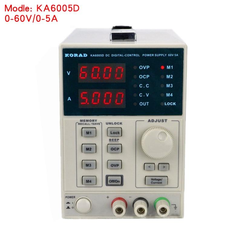 KORAD KA6005D 0 60 В 0 5A 220 В Высокая точность лаборатория Программируемый Регулируемый Цифровой Регулируемый питания постоянного тока