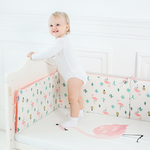 1 Piece Baby Bed Bumper Cartoon Pattern Baby Crib Protector Crotch To The Cot Infant Cotton Cradle Guard 120cm Length