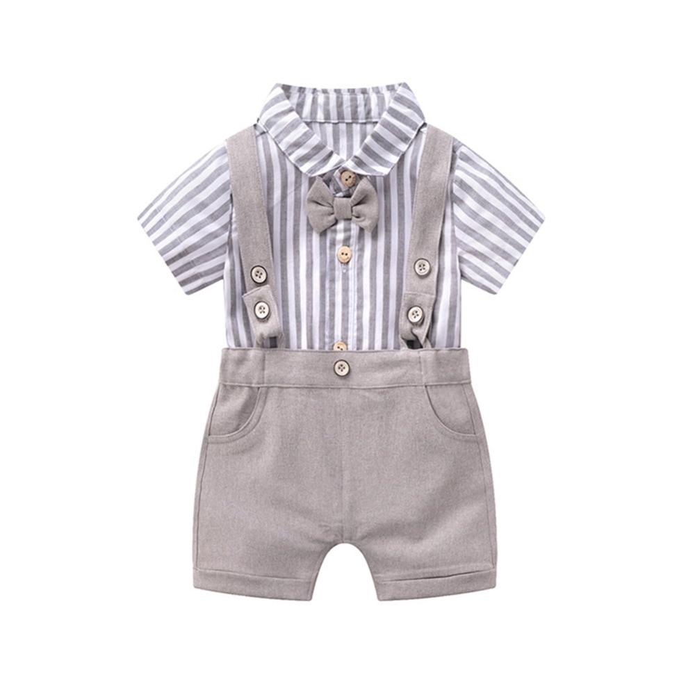 2019 новая модная одежда для малышей комбинезон для мальчиков летняя одежда джентльмена Детский боди Одежда для новорожденных детские комбинезоны Костюмы