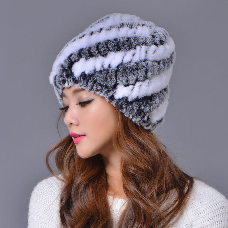 c67269b9ecf 2016 new fashion women Snow Cap Winter Hats for Girls Cap Real Fur Knitting  Rabbit Women Hats-in Skullies   Beanies from Women s Clothing   Accessories