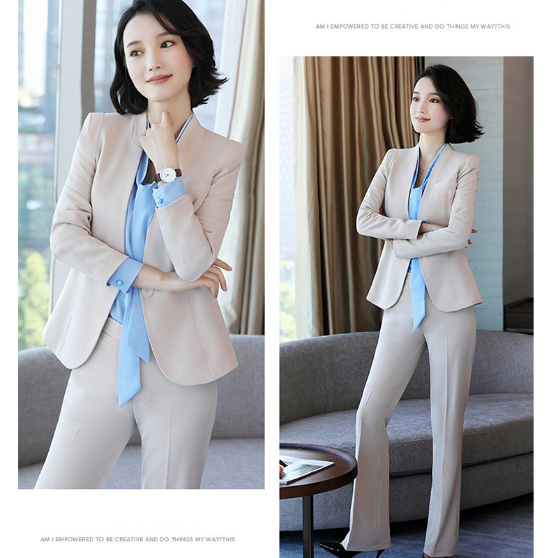 Fashion small suit women new professional women suit set slim ladies pants suit business executive tooling clothes spring autumn