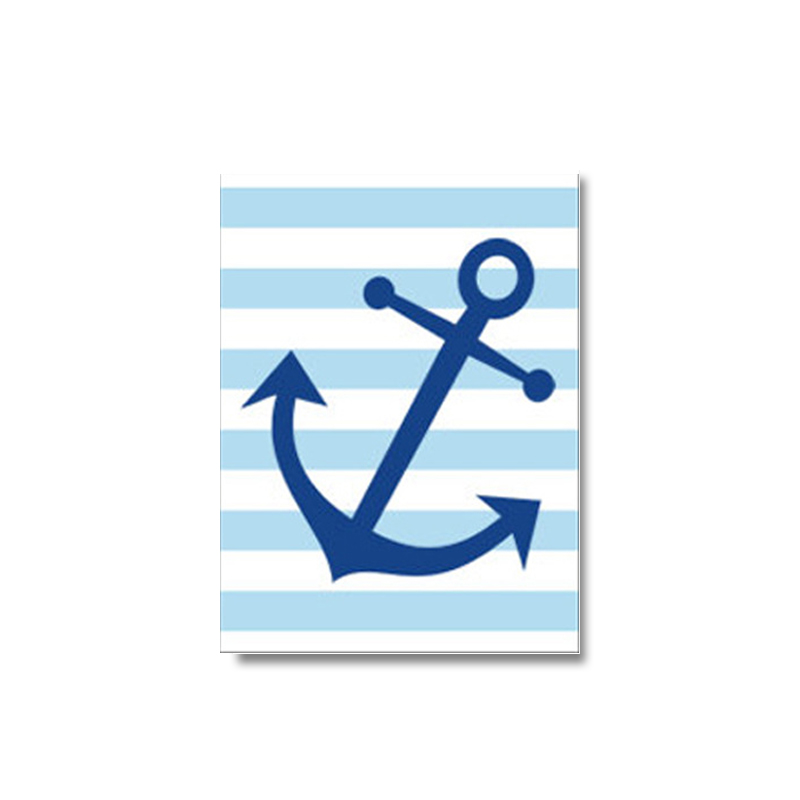 Mua Navy Blue Nautical Sailboat Anchor Canvas Painting Nursery Wall Art Poster and Print Pictures Kids Bedroom Home Decor