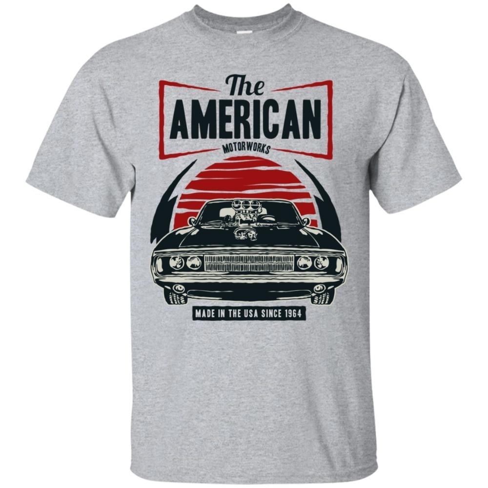 The American Muscle T Shirt, Classic Muscle Car Shirt, Men