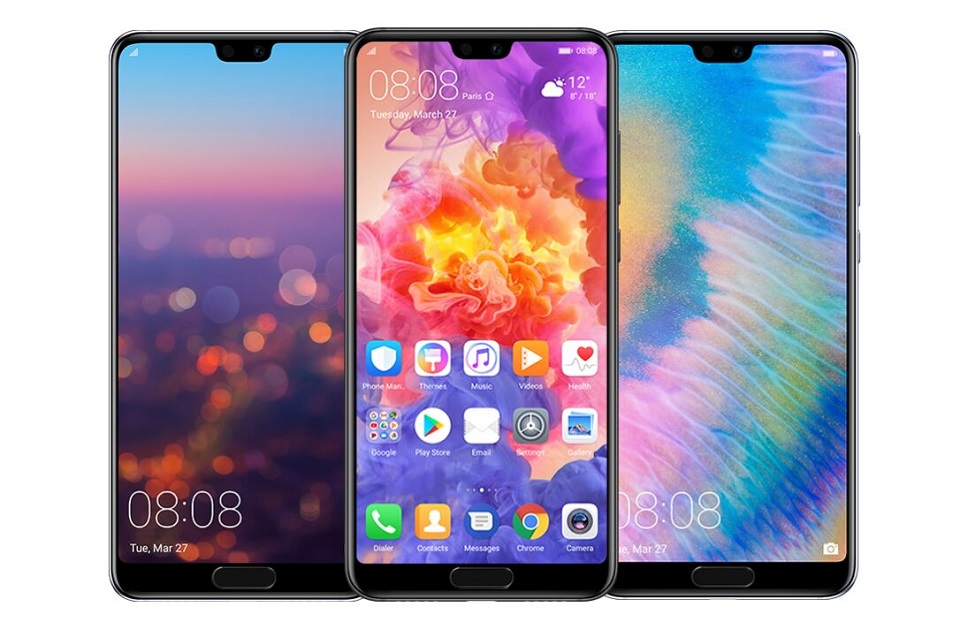 Дюймов оригинальный 5,8 дюймов huawei P20 8,1 ГБ Android 128 Octa Core мобильный телефон Kirin 970 полный экран двойной назад AI камера 1080*2244 NFC