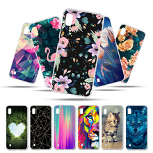 Bolomboy Painted Case For Samsung Galaxy A10 Silicone Soft TPU Cases A40 A50 Cover Wildflowers Cute Animal Bags