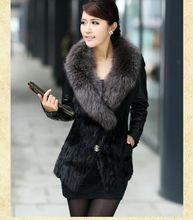 S / 3Xl женщин пу кожаная куртка зима и осень норки овечья шубной короткий большой размер свободного покроя пиджаки J271