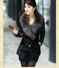 S/3Xl Women'S Patchwork Pu Leather Fur Jacket Winter And Autumn Mink Fur Sheep Skin Coat Short Large Size Casual Outwear J271