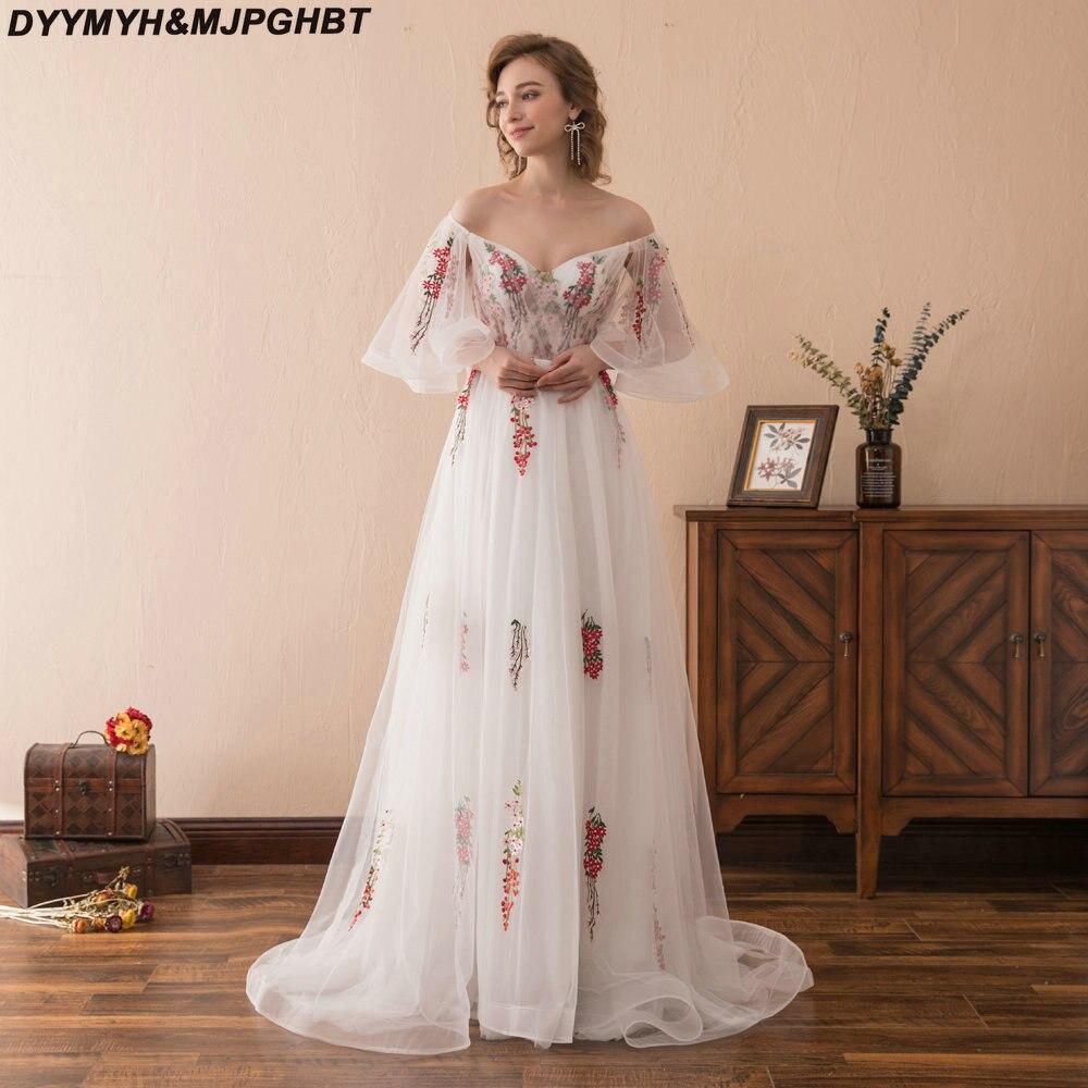 fef79cc28a358 Short Sleeve Backless A Line Floral Prom Dress Long Vivian's Bridal ...
