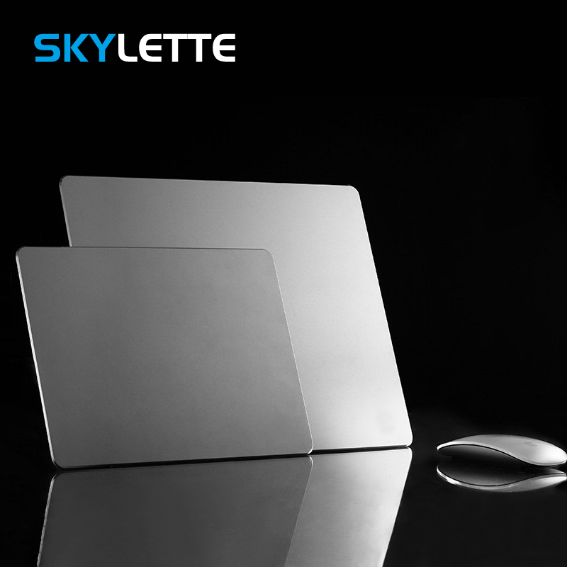 Anti-Slip Game Mouse Pad Aluminum PU PC Laptop Rubber Hard Mouse Mat for Macbook