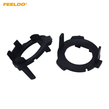 FEELDO 2pcs H7 LED Bulb Holder Adapters Base For Volkswagen Lavida/GranLavida/Touran/Tiguan Lamp Holder #5539 image