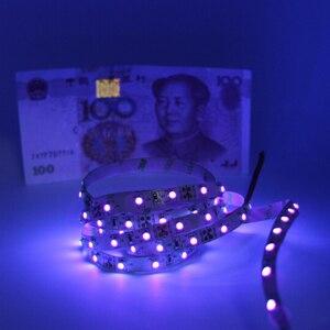 Image 2 - 12 فولت الأشعة فوق البنفسجية الأشعة فوق البنفسجية 395 40nm led قطاع الضوء الأسود 5050 3528 مصلحة الارصاد الجوية 60led/م 120led/م شريط مضاد للماء مصباح لحزب DJ الإسفار