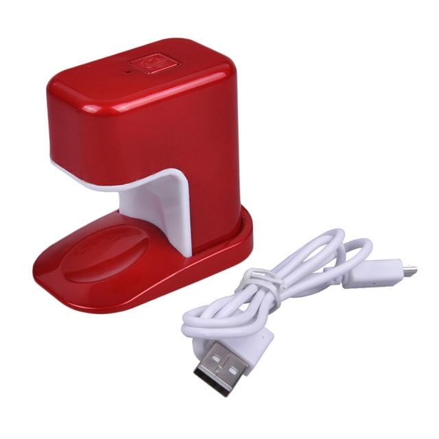 Mini Tamaño Portable USB Recargable Solo Dedo Luz de La Lámpara de ...