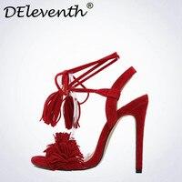 Hot Bán 2017 Summer Tua Sexy Shoes Women Ankle Strap cao Gót Hở Ngón Dép Dây Đeo Chéo Wedding Party Dép đ