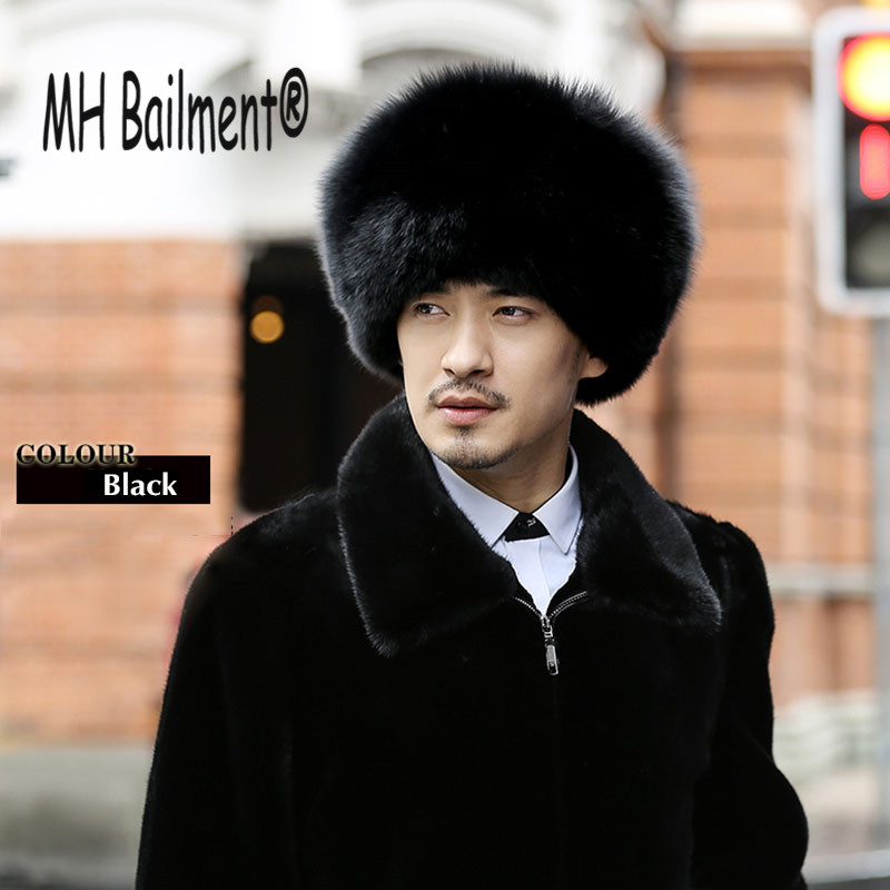 Hats Caps Raccoon-Fur Russian Real Genuine New Men for Whole Tops -28 Feng-Cap Lei