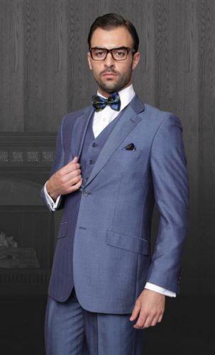 8789a66a2 Azul de La Boda del Hombre Burlington Coat Factory BO169 Esmoquin Smoking  Jacket + Pants +