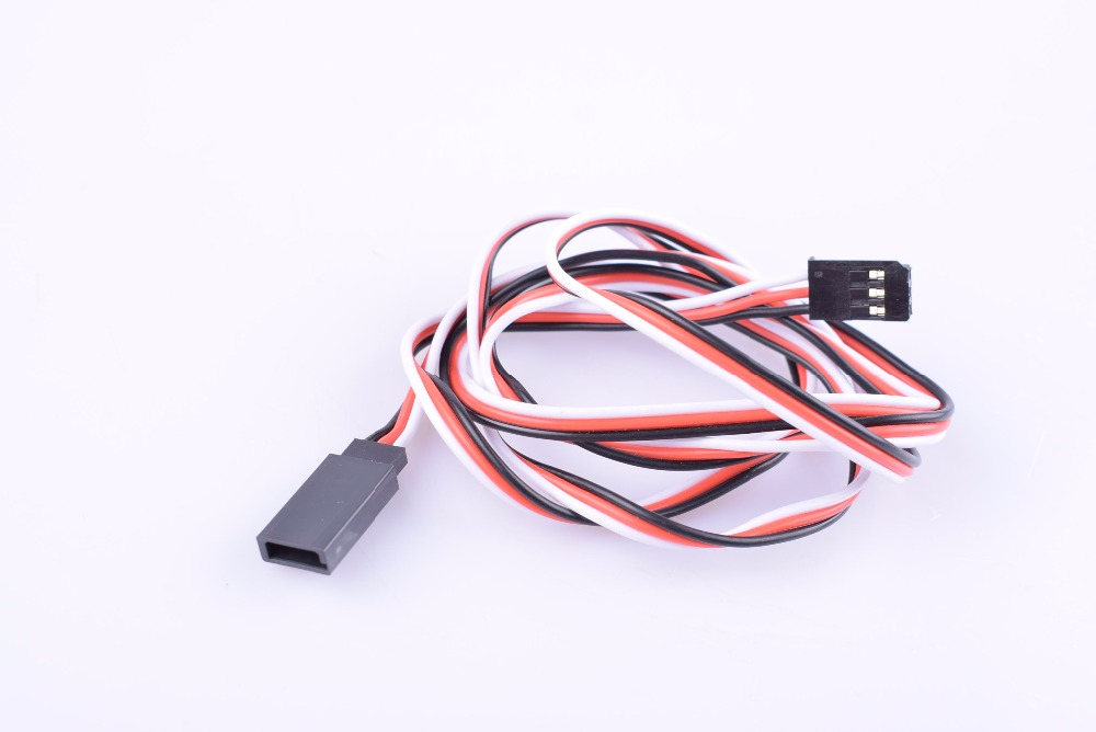 2 pcs 22AWG 100mm/150mm/200mm/300mm/500mm/700mm/1000mm Futaba Plug servo extension cable lead for RC servo charger motor