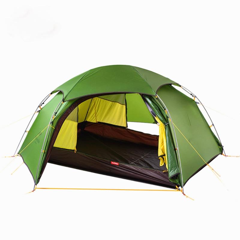 2 personne Quatre Saisons Touristique en Plein Air Tente de Camping Pour La Randonnée Pêche Chasse Voyage Tentes Avec Tapis de Coupe-Vent Imperméable À La Pluie