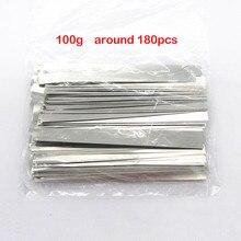 100g environ 180 pièces 100*7 MM 18650 Lithium Li ion connecteur de batterie en acier nickelé Nickel feuille bande bricolage ruban de soudage par points