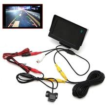 "2 In1 ที่จอดรถ 4.3 ""สี TFT LCD Monitor + กล้องมองหลังกันน้ำ"