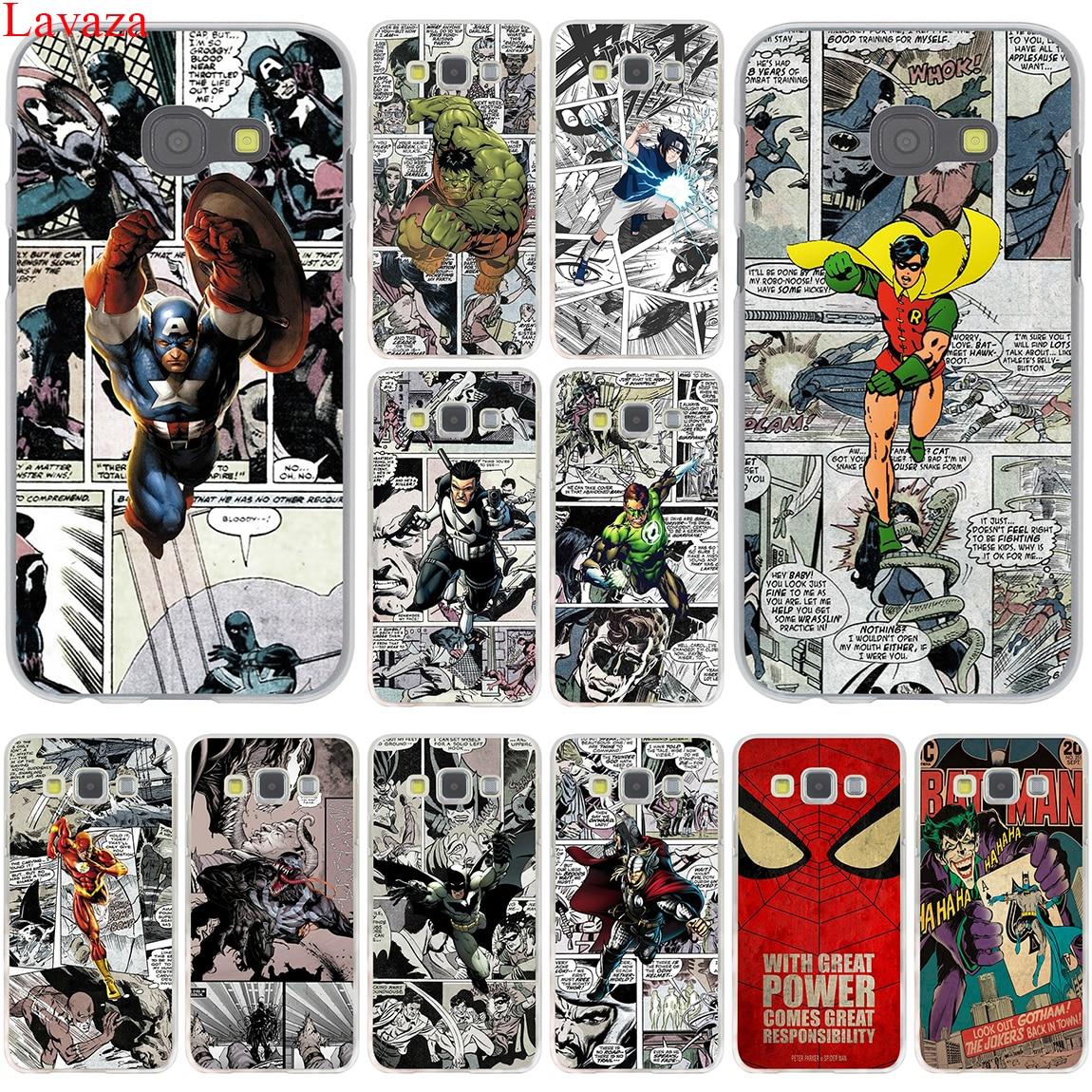 Lavaza Бэтмен Человек-паук Wonder Woman трудная для Samsung Galaxy A3 A5 A7 A8 2015 2016 2017 2018 Grand Prime примечание 8 5 4 3 2