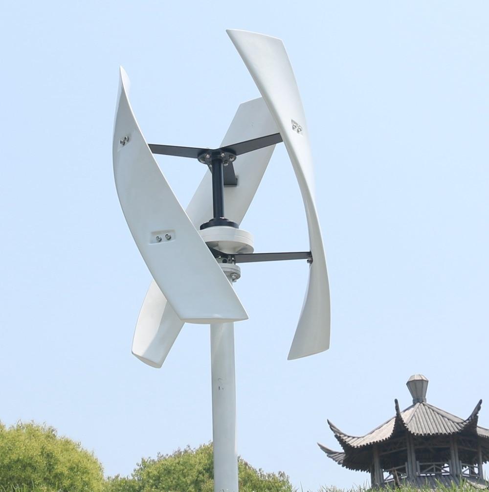 R & X 400w éolienne générateur d'énergie 3-lames énergie libre CE Maglev moulin à vent axe Vertical maison lampadaire prix usine