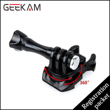 GEEKAM  360 Degree Rotate Quick Release Buckle Vertical Surface Mount For Go Pro Hero 4 3+ 3 2 SJ4000 Action Camera