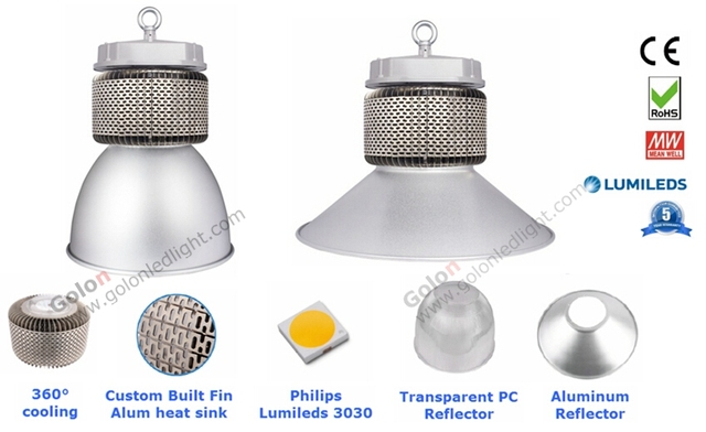 LED high bay light 100W 400w metal halide led replacement lamp DHL ...