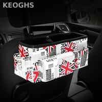 2017 New Auto Accessories Multifunction Leather Car Seat Back Hanging Bag Car Seat Organizer Organizador Auto