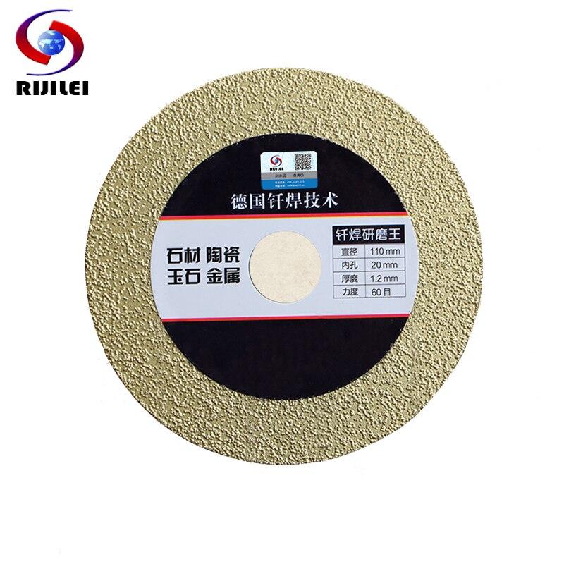 RIJILEI 4inch 110*20*1.2mm Ultra-thin Brazing Diamond Saw Blade Cutting Metale Glass Ceramic Tiles Marble Cutting Blade MX09