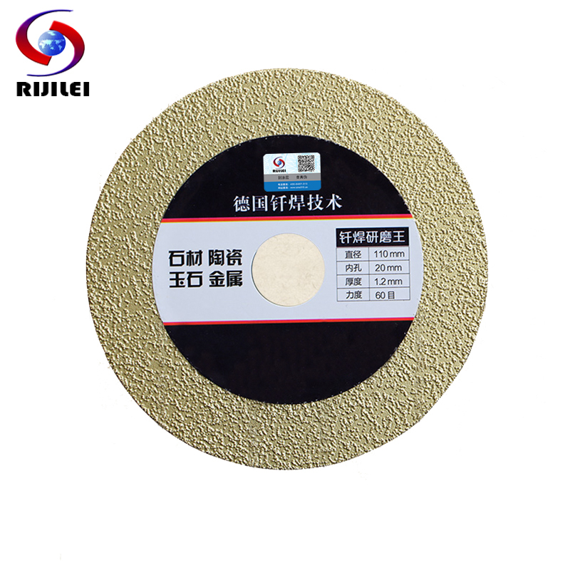 RIJILEI 4inch 110*20*1.2mm Ultra-thin Brazing diamond saw blade cutting Metale Glass Ceramic tiles marble cutting blade MX09