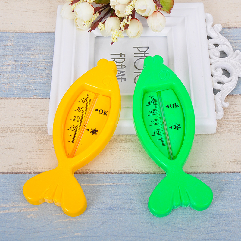 1Pc Water Thermometer Baby Bath Fish Shape Infants Toddler Shower Cartoon Floating Lovely Temperature Toy For Baby Care
