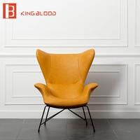 italian armchair single chair PU leather sofa chair swan butterfly armchair