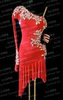 NEW Rumba Jive Chacha Latin Dance Dress,tango salsa samba dance dress, latin dance wear , cha cha ,Sunflower Dance Dress,red