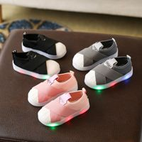 Foreign Trade Spring and Autumn Single footed Stretch Cloth Shoes for Boys and Girls Shell Headboard Shoes for Children