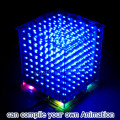 New 3D8 mini cubeeds LED DIY KIT with excellent animations /3D display 8 8x8x8 pixe,fun Electronic DIY Kit /Junior high quality